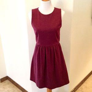 J Crew Burgundy Knit Dress Size M